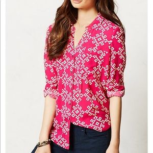Anthropologie Maeve overland button down blouse